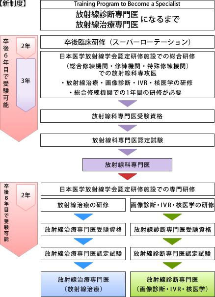 日本医学放射線学会の研修システム